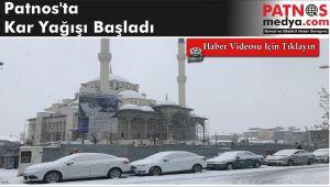 Patnos'ta Kar Yağışı Başladı