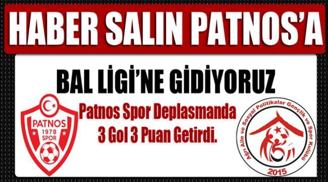 Patnos Spor Deplasmanda 3 Gol 3 Puan Getirdi.