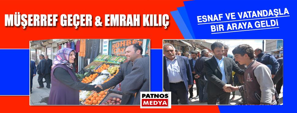 Esnaf ziyaretlerinde Patnos Belediyesi Eş Başkanlarına büyük ilgi