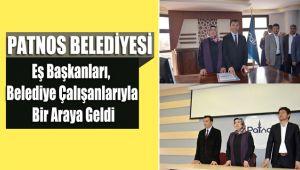 Patnos Belediyesi Eş Başkanları, Belediye Çalışanlarıyla Bir Araya Geldi