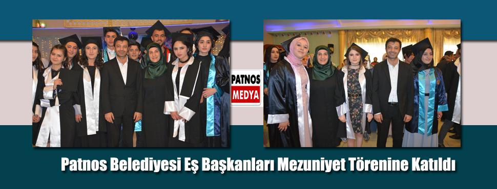 Patnos Belediyesi Eş Başkanları Mezuniyet Törenine Katıldı