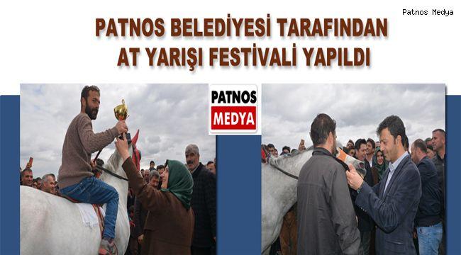 Patnos Belediyesi Tarafından At Yarışı Festivali Yapıldı