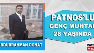 Patnos'un En Genç Muhtarı 28 Yaşında