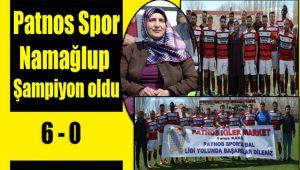Patnos Spor Namağlup Şampiyon Oldu