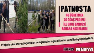 Patnos'ta 40 öğretmen 40 ağaç projesi ile okul bahçesi bahara hazırlandı