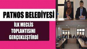 Patnos Belediyesi İlk Meclis Toplantısını Gerçekleştirdi.