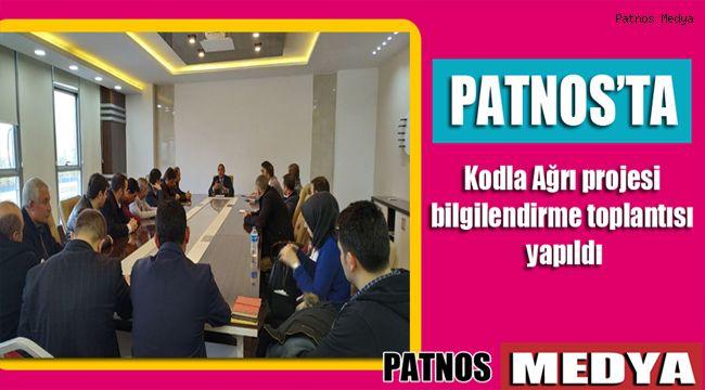 Patnos'ta Kodla Ağrı projesi bilgilendirme toplantısı yapıldı
