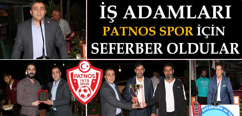 İş Adamları Patnos Spor için seferber oldular.