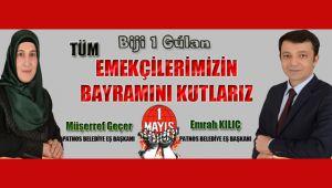 Patnos Belediye Eş Başkanlarından 1 Mayıs Mesajı