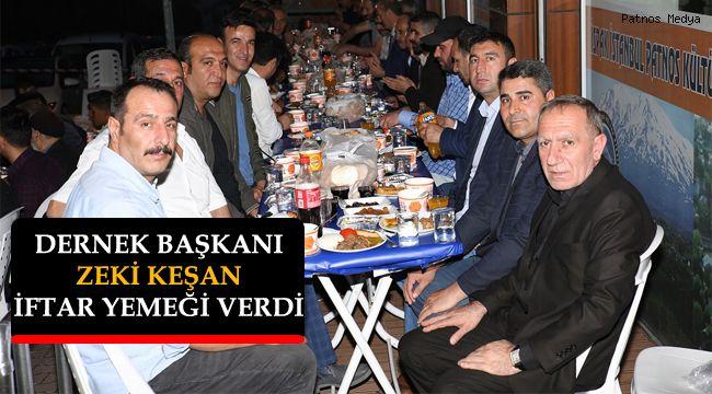 Patnos Dernek Başkanı Zeki Keşan, İftar yemeği verdi