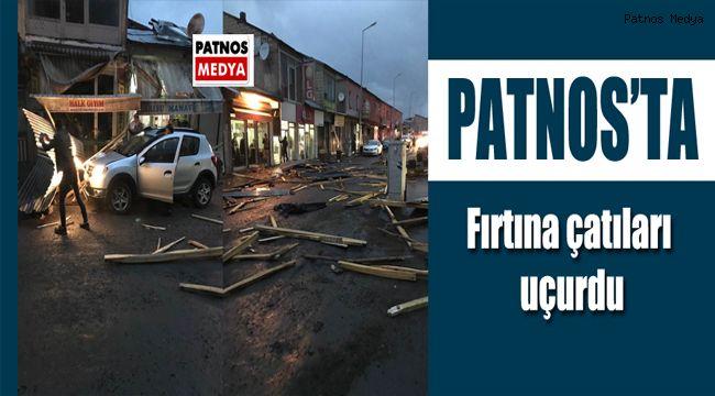 Patnos'ta Fırtına çatıları uçurdu