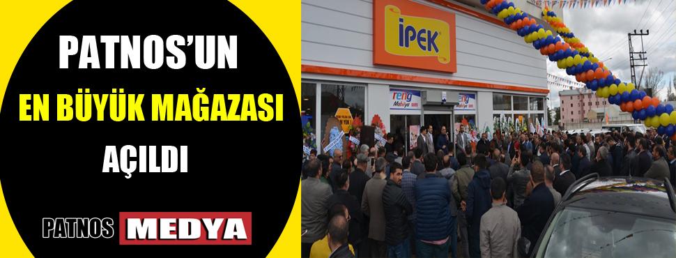 Patnos'un En Büyük Mobilya Mağazası Açıldı.