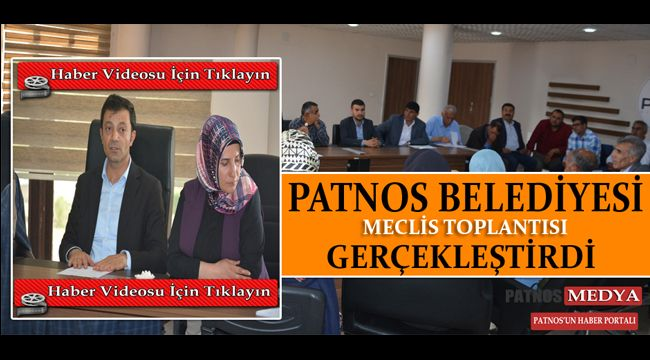 Patnos Belediyesi Haziran ayı 2019 Meclis toplantısı
