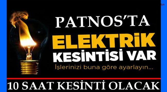Patnos'ta Elektrikler Kesilecek