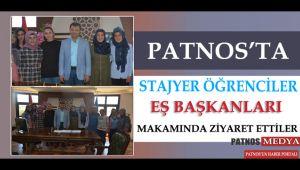 Patnos'ta Stajyer Öğrenciler Eş başkanları makamında ziyaret ettiler.