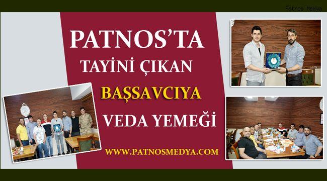 Patnos'ta tayini çıkan Başsavcıya veda yemeği