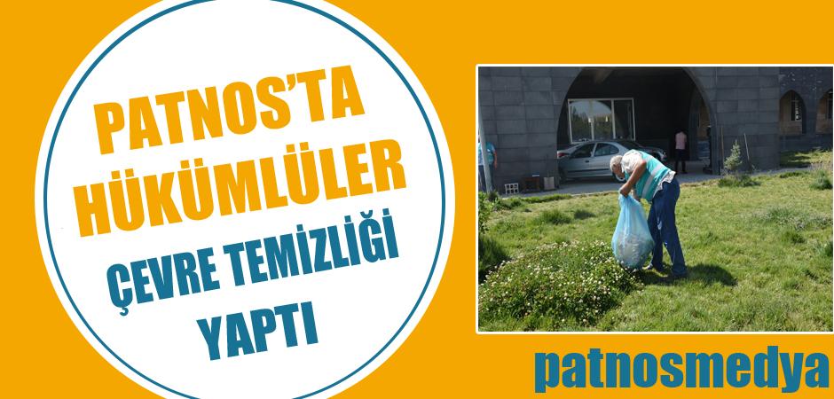 Patnos'ta Hükümlüler Çevre Temizliği Yaptı