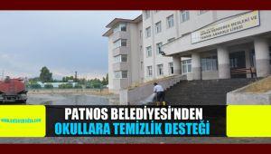 PATNOS BELEDİYESİ'NDEN OKULLARA TEMİZLİK DESTEĞİ