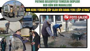 Patnos Belediyesi temizlik ekipleri her gün bir mahallede