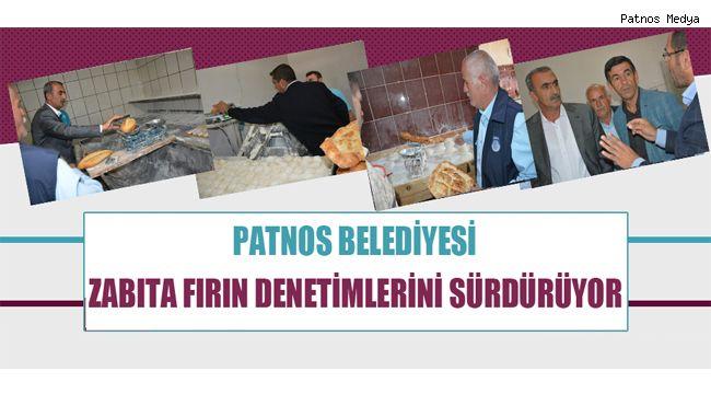 Patnos Belediyesi Zabıta Ekipleri Fırın Denetimlerini Sürdürüyor