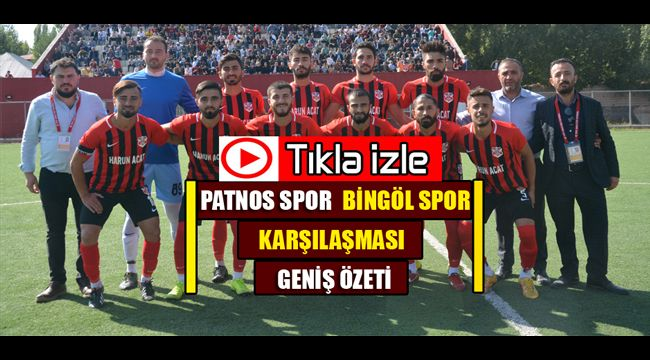 Patnos Spor 2 - 2 Bingöl Spor Maçı Özeti
