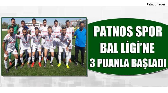 Patnos Spor Lige Galibiyetle Başladı.