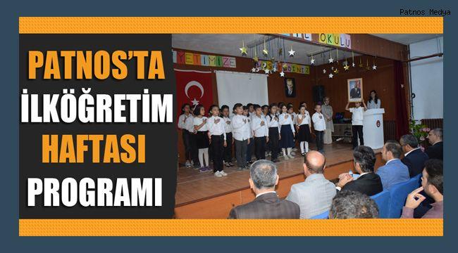 Patnos'ta İlköğretim Haftası Programı