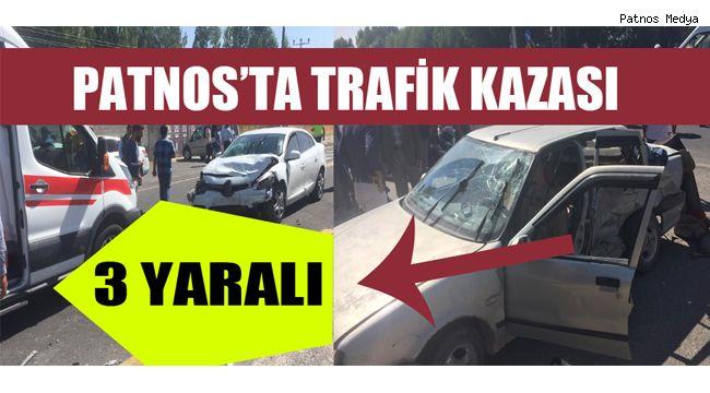 Patnos'ta Trafik Kazası:3 Yaralı