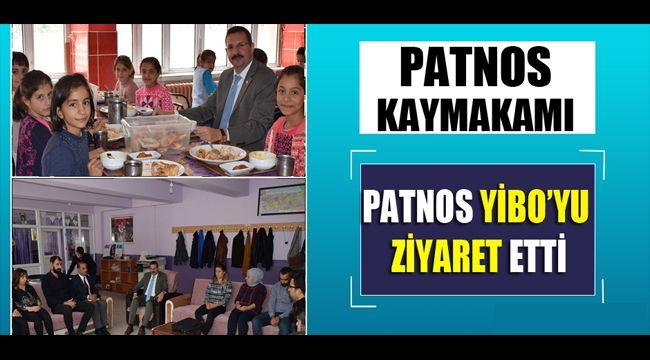 PATNOS KAYMAKAMI ÖZDERİN PATNOS YİBO'YU ZİYARET ETTİ