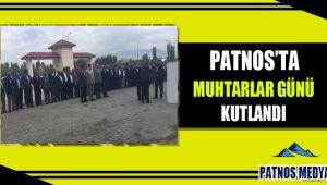 Patnos'ta Muhtarlar Günü kutlandı