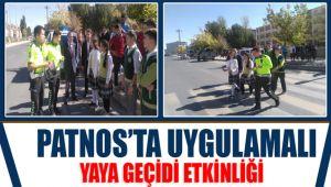 Patnos'ta Uygulamalı Yaya Geçidi Etkinliği