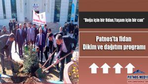 Patnos'ta fidan dikim ve dağıtım programı