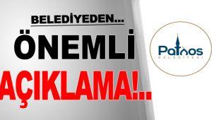 Patnos Belediyesi'nden Önemli Açıklama