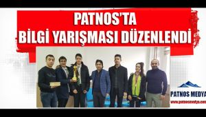 Patnos'ta Bilgi Yarışması Düzenlendi.