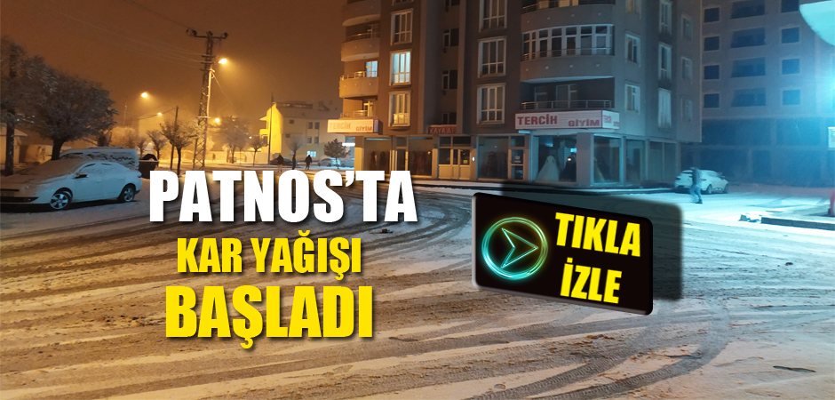 Patnos'ta Kar Yağışı Başladı.