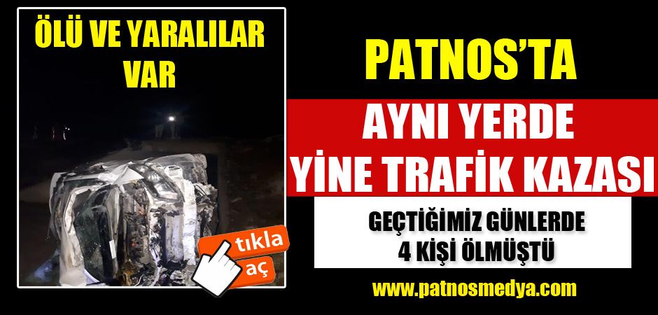 Patnos'ta Yine Aynı Yerde Trafik Kazası