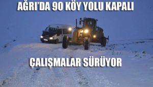 Ağrı'da 90 Köy yolu kapalı