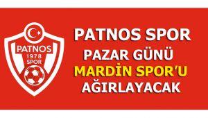 Patnos Mardin Spor'u evinde ağırlayacak.