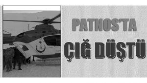 Patnos'ta çığ düştü, 1 yaralı