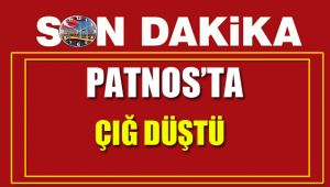 Patnos'ta çığ düştü