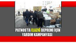 Patnos'ta Elazığ depremi için yardım kampanyası