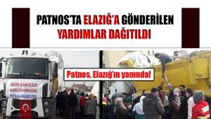 Patnos'ta Gönderilen Yardımlar Elazığ'da Dağıtıldı