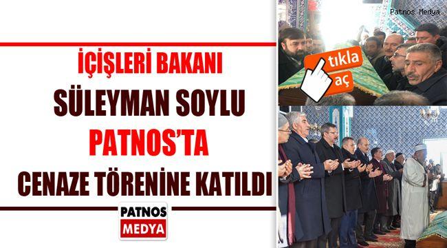 İçişleri Bakanı Süleyman Soylu, Patnos'ta Cenaze Törenine Katıldı.