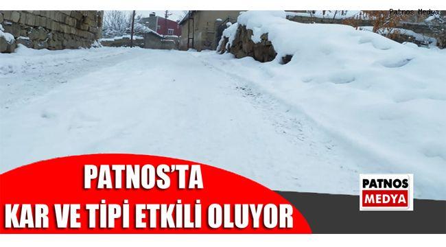 Patnos'ta kar ve tipi etkili oluyor