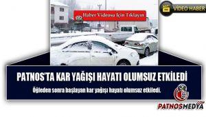 Patnos'ta kar yağışı aralıksız devam ediyor