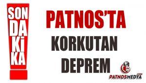 PATNOS'TA KORKUTAN DEPREM MEYDANA GELDİ