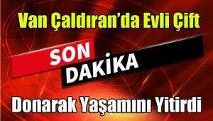 Van Çaldıran'da çiftler donarak yaşamını yitirdi