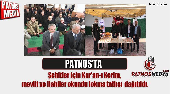 PATNOS'TA ŞEHİTLER İÇİN DUALAR EDİLDİ