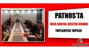 Patnos'ta Vefa Sosyal Destek Grubu Toplantısı Yapıldı.