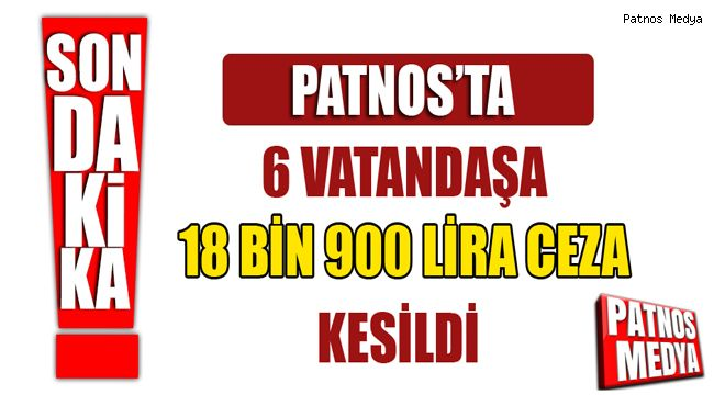 Patnos'ta 6 Vatandaşa 18 Bin 900 Lira Ceza Kesildi